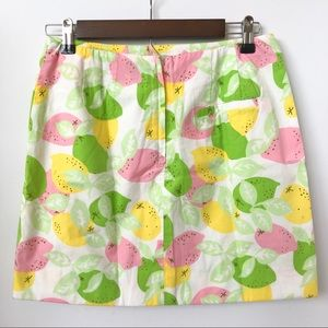 Lilly Pulitzer Skirts - 🎉HP!🎉 Lilly Pulitzer Citrus Print Skirt • Size 4